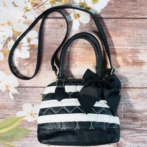 Betsey Johnson Quilted Stripe Crossbody